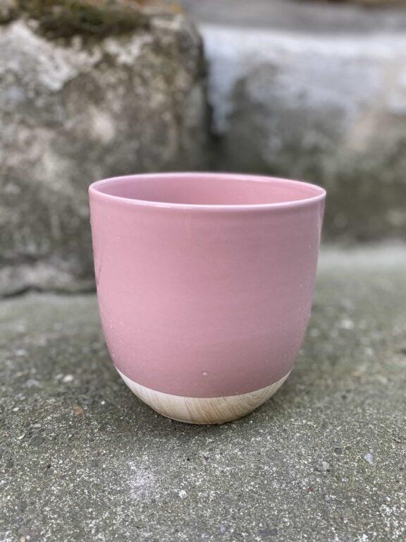 Zdjęcie Osłonka Pink Woody 13x13 cm w kategorii doniczki, ujęcie 1