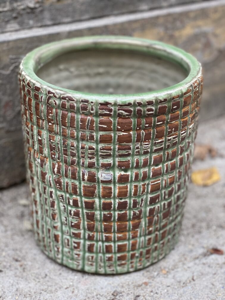 Zdjęcie doniczki lub oslonki: Osłonka Velka Green 15x20 cm, ujęcie 1
