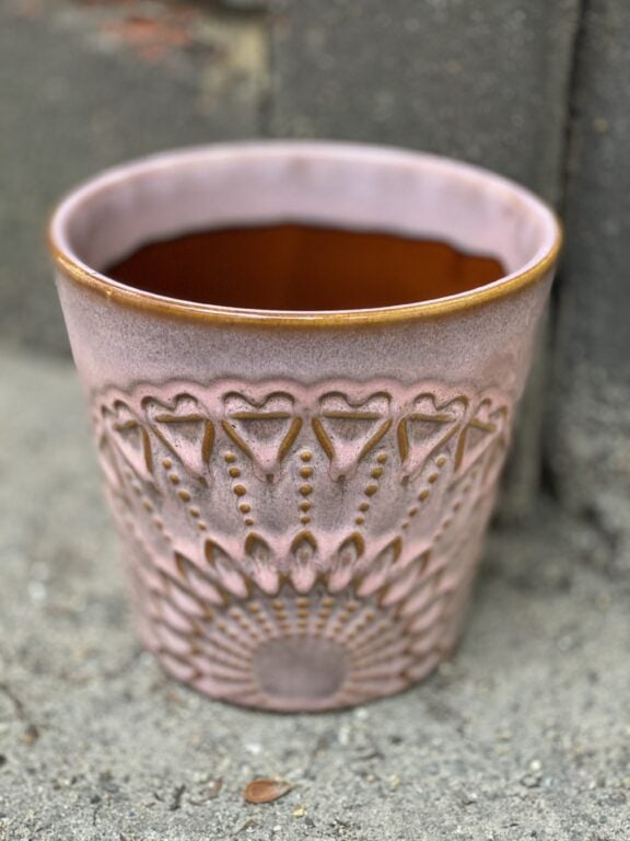 Zdjęcie doniczki lub oslonki: Osłonka Boho pink 15x16 cm, ujęcie 1