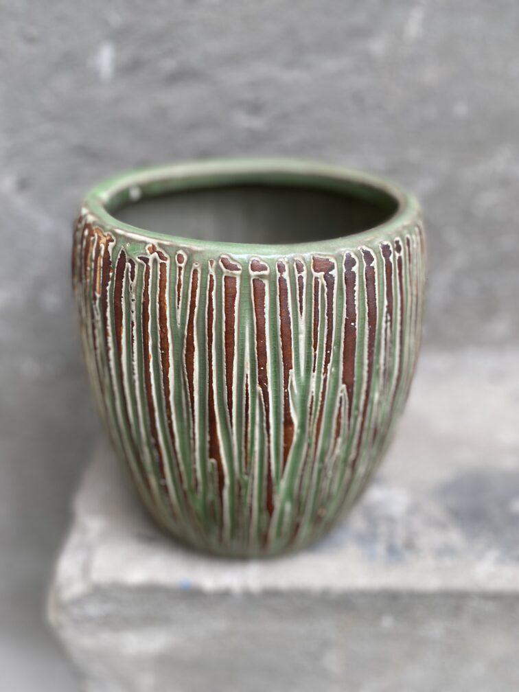 Zdjęcie doniczki lub oslonki: Osłonka Cinder Green 14x20 cm, ujęcie 1