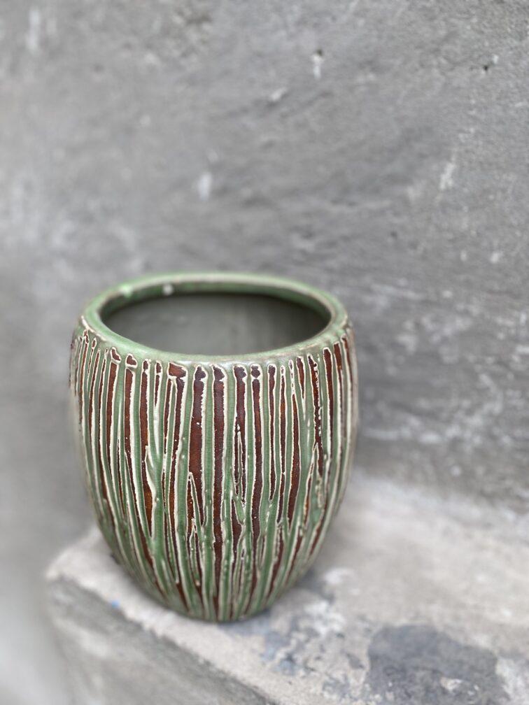 Zdjęcie doniczki lub oslonki: Osłonka Cinder Green 14x20 cm, ujęcie 3