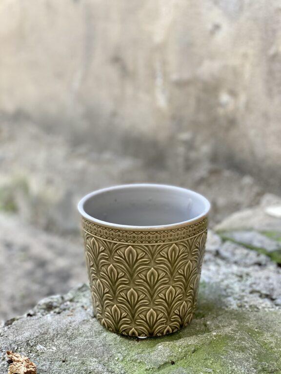 Zdjęcie doniczki lub oslonki: Osłonka Middle Ages Olive Green 10x11 cm, ujęcie 1