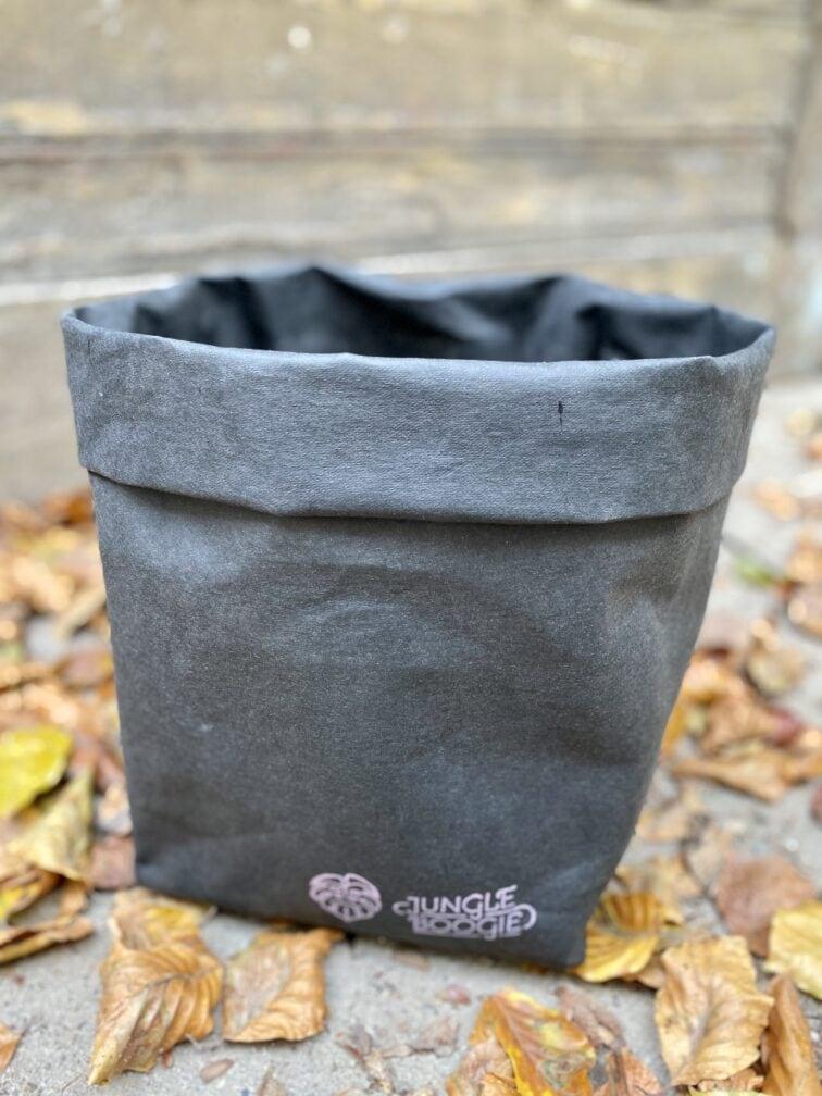 Zdjęcie doniczki lub oslonki: Osłona Washpapa Czarna 33x30 cm, ujęcie 1