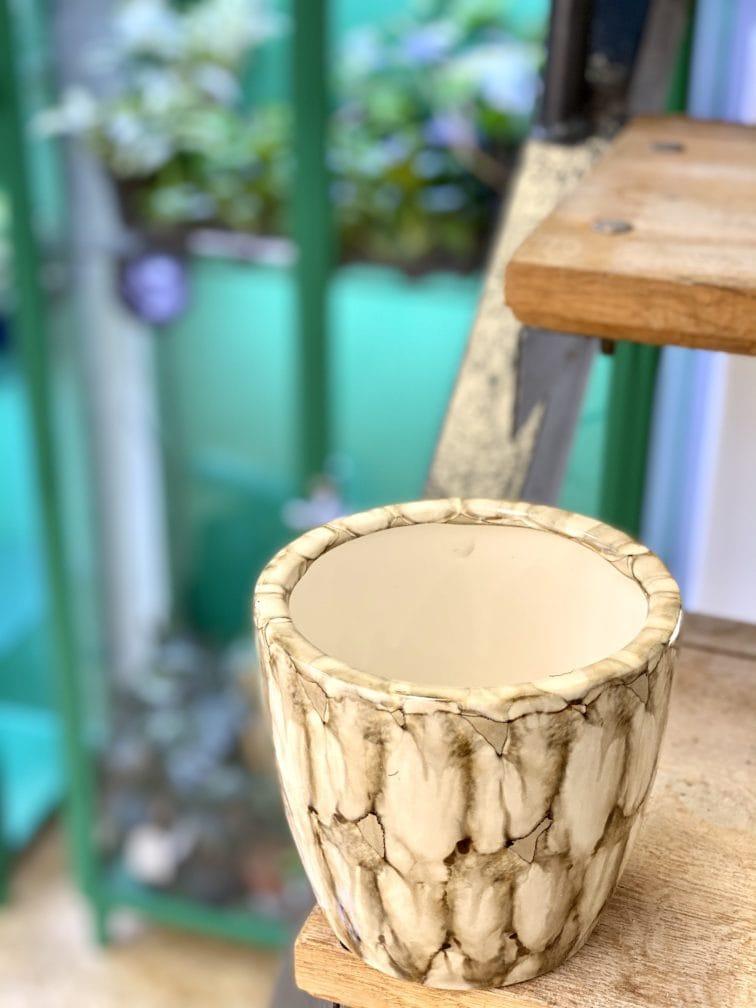 Zdjęcie doniczki lub oslonki: Osłonka Ivory 11x12 cm, ujęcie 3