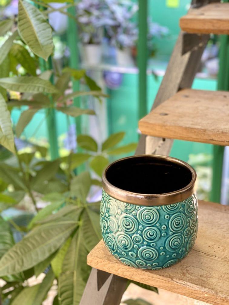 Zdjęcie doniczki lub oslonki: Osłonka Azteca Ovo 14x16cm, ujęcie 3