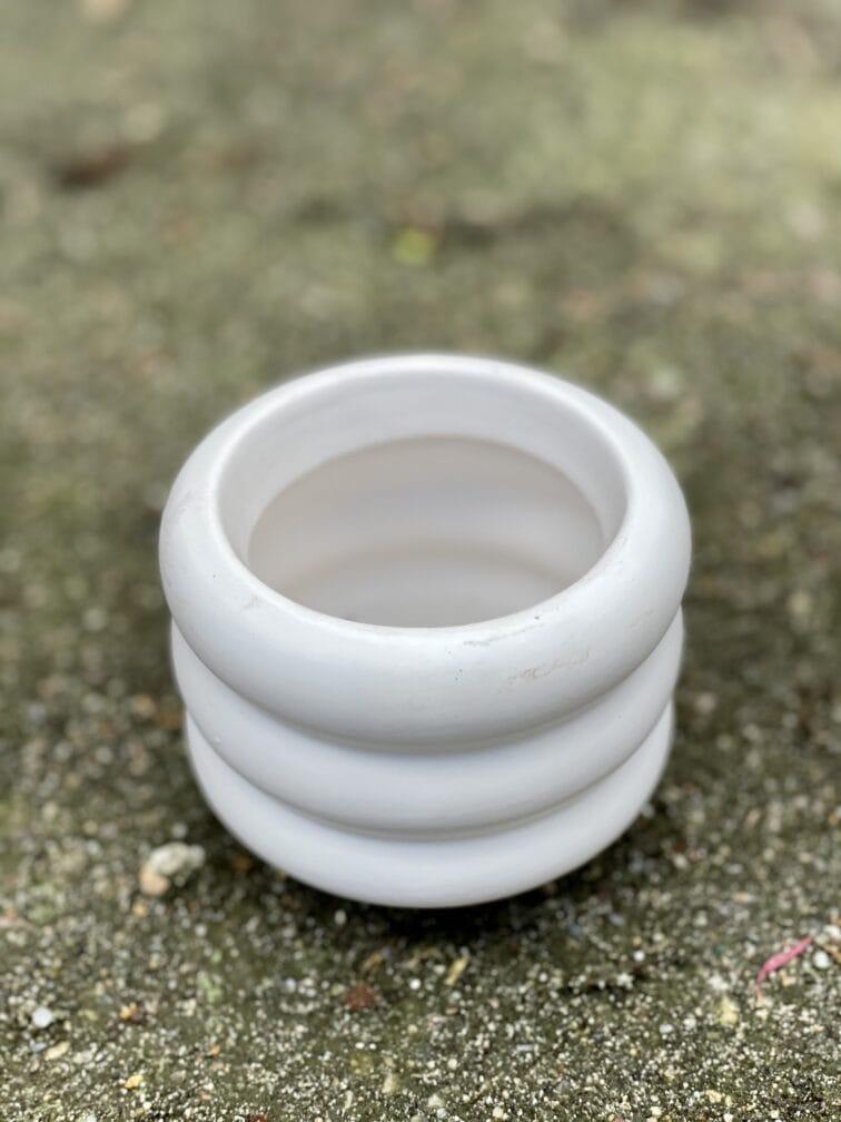 Zdjęcie doniczki lub oslonki: Oslonka-ponton-white-mini 6x7cm, ujęcie 1