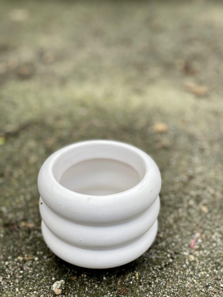 Zdjęcie doniczki lub oslonki: Oslonka-ponton-white-mini 6x7cm, ujęcie 3
