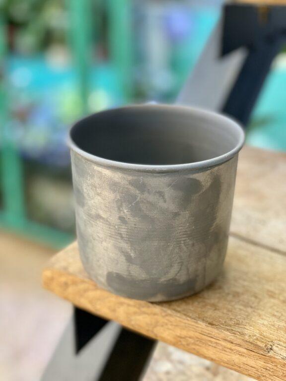 Zdjęcie doniczki lub oslonki: Osłonka metalowa Aluminium Ib Laursen 10x9cm, ujęcie 1
