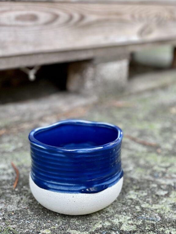 Zdjęcie doniczki lub oslonki: Osłonka Blue Lagoon 10x9cm, ujęcie 1
